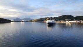 Prom opuszcza Bodo Norwegia Obraz Stock