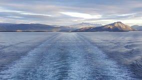 Prom opuszcza Bodo Norwegia Zdjęcie Stock