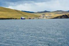 Prom przy molem Olkhon wyspa baikal jeziora Rosja Zdjęcie Royalty Free