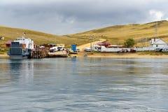 Prom przy molem Olkhon wyspa baikal jeziora Rosja Fotografia Stock