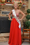 Prom Queen. Young pretty blonde teen girl ready for Prom stock image