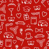 Prom Seamless Pattern Royalty Free Stock Image