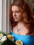 Prom Serious Expression. My 14 year old neice Ashly. One of a series of photographs Royalty Free Stock Photos