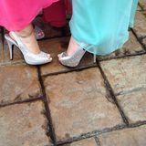 Prom shoes Stock Images