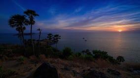 Prom Thep Cape sunset timelapse. Prom Thep Cape, Sunset timelapse, South Phuket stock footage