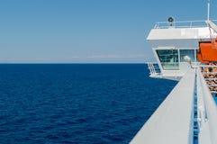 Prom w morzu egejskim obrazy stock