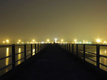 Prom wody most w Roscoff, Britanny, Francja Obrazy Stock