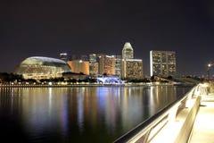 Promenad—teatrar på fjärden, Singapore arkivbild