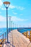 Promenad över havet i Limassol arkivfoton