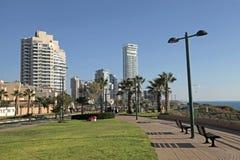 Promenad av Netanya, Israel fotografering för bildbyråer