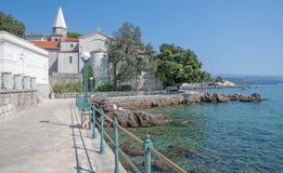 Promenad av Opatija, Istria, Kroatien Royaltyfria Bilder
