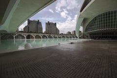 Promenad av staden av konster och vetenskaper, Valencia, Spanien royaltyfri bild