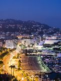 Promenad de la Pantiero i Cannes arkivfoto