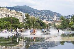 Promenad du Paillon i Nice, Frankrike Royaltyfri Fotografi