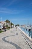 Promenad i Vila Real de Santo Antonio Royaltyfri Bild