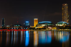 Promenad Singapore arkivfoton