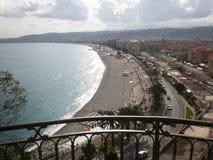Promenada en Niza, Cote d Azur, Francia Foto de archivo libre de regalías