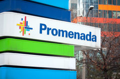 Promenada mall sign Stock Photography