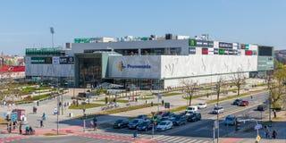 Promenadawinkelcomplex in Novi Sad, Servië stock afbeeldingen