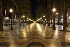 Promenade à Alicante, Espagne Images stock