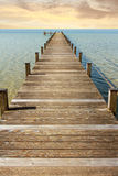 Promenade à l'horizon sans fin Image stock