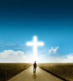 Promenade à la croix Photos libres de droits