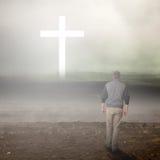 Promenade à la croix Photographie stock libre de droits