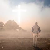 Promenade à la croix Image libre de droits