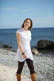 Promenade à la plage Photos libres de droits