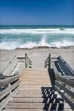 Promenade à la plage Image stock