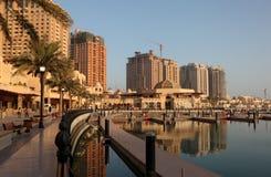Promenade à Porto Arabie, Doha photographie stock libre de droits