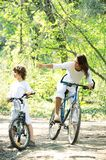 Promenade. à vélo en pleine nature Stock Photo