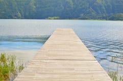 Promenade aan het meer Royalty-vrije Stock Afbeeldingen