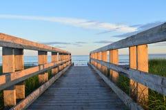 Promenade aan Lawrencetown-strand Stock Foto