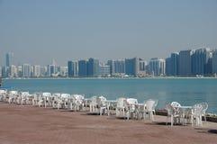 Promenade in Abu Dhabi Stockbild