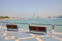 Promenade in Abu Dhabi Stock Photo