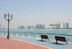 Promenade in Abu Dhabi Stockfotos