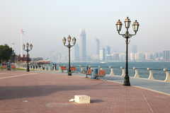 Promenade in Abu Dhabi Royalty Free Stock Photography
