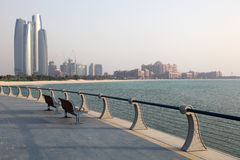 Promenade in Abu Dhabi Royalty Free Stock Photo