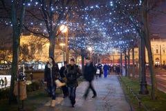 'promenade' adornada en Zrinjevac Foto de archivo libre de regalías