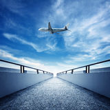 Promenade and aircraft Stock Photo