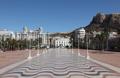 Promenade in Alicante, Spain Royalty Free Stock Photo