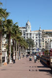 Promenade in Alicante, Spain Stock Photography