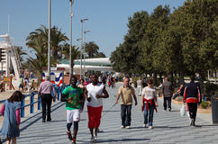 Promenade in Alicante, Spain Stock Images