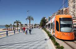 Promenade in Alicante, Spain Royalty Free Stock Photography