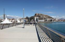 Promenade in Alicante, Spain Stock Images
