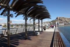 Promenade in Alicante, Spain Stock Image