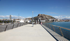 Promenade in Alicante, Spain Stock Image