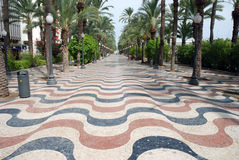 Promenade in Alicante, Spain Stock Photos