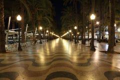 Promenade in Alicante, Spanje Stock Afbeeldingen